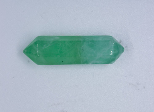 Green Fluorite two points polished pendant 32mm