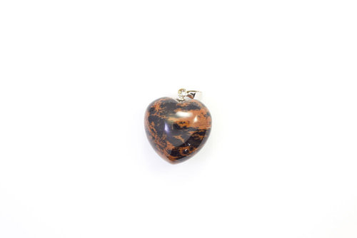 Mahogany Obsidian pendant necklace 20mm