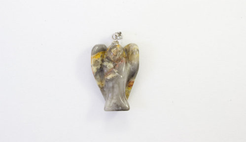 Crazy Agate pendant angel 25mm