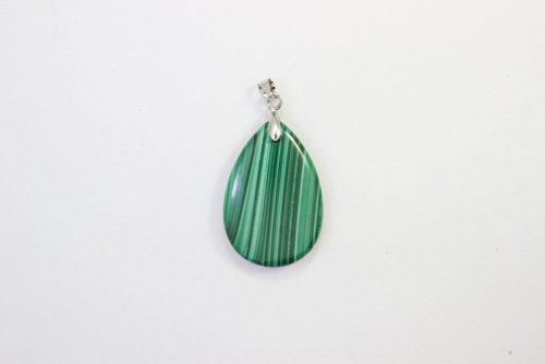 Malachite pendant drop 20x30mm