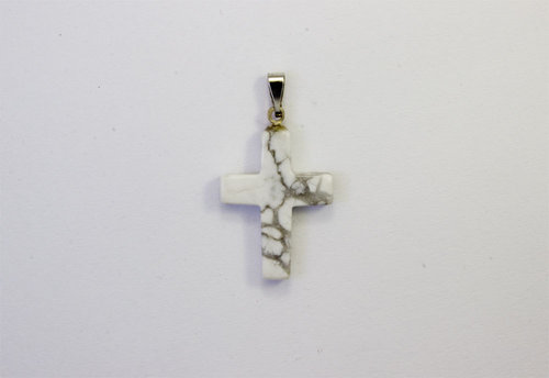 Magnesite pendant cross 18x25mm