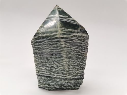 Polished mineral tip chrysotile