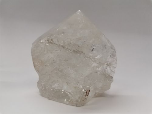 Polished mineral tip quartz rock crystal