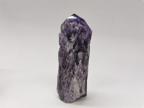 Polished mineral tip chevron amethyst