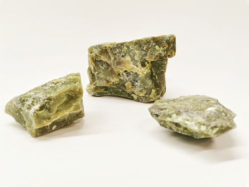 Mesh bag mineral raw 1kg green jade