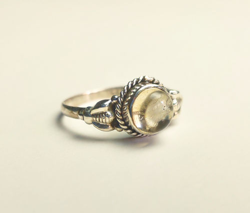 Silver Ring 925 Bee natural citrine