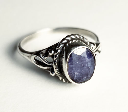 Silver Ring 925 Swan sapphire